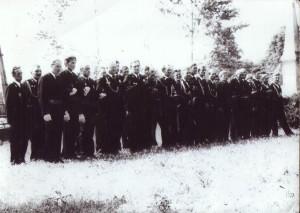 Pierwsi członkowie OSP